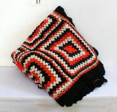 Grande couverture granny orange lamerelipopette.com
