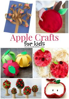 Apple themed crafts and activities for preschooler and kindergarteners. From apple crafts for kids to fine motor and fun activities for young children. Fall Crafts For Toddlers, Easy Crafts For Kids, Toddler Crafts, Toddler Activities, Crafts To Make, Art For Kids, Diy Crafts, Kindergarten Activities, Popsicle Stick Crafts