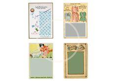 Digital Download Printable Vintage Button Cards JPEG by sssstudio, $2.75