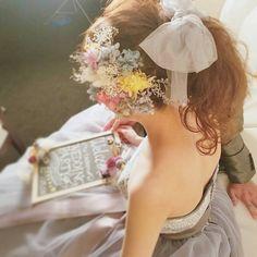 sachiko shigaさんはInstagramを利用しています:「前撮り*✱チュールリボン♡ #ブライダル #熊本 #ヘアアレンジ #熊本ヘアセット #osumiブライダル #結婚式準備 #プレ花嫁 #ヘアメイク #ブライダルヘア #hair #hairstyle #カラードレス #前撮り…」