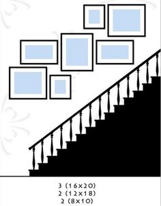 Incredible Wall Gallery Ideas For Perfect Wall Decor: 75 Best Ideas Stairway Decorating Decor Gallery Ideas Incredible Perfect Wall Stairway Pictures, Stairway Gallery Wall, Gallery Wall Layout, Gallery Walls, Art Gallery, Staircase Wall Decor, Stairway Decorating, Picture Wall Staircase, Staircase Ideas