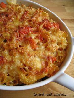 Gratin de pâtes au saint-marcellin - Quand Nad cuisine...