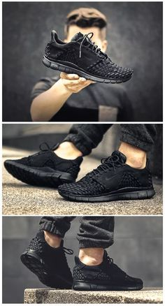 83e87e23cf1 Nike Free Inneva Woven  Black Men s Casual Shoes