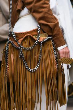 Stella McCartney Fringe Must Have Bag! Fashion Bags, Boho Fashion, Fashion Accessories, Fashion Outfits, Fringe Fashion, My Bags, Purses And Bags, Stella Mccartney Bag, Boho Chic