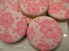 Pretty in Pink Cherry Blossom Cookies. $2.95, via Etsy.