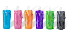 Foldable water bottle....compact genius.