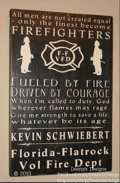 For Heather- Firefighter Subway Sign - (smaller version)  Firefighter Decor, Distressed Wall Decor, Custom Wood Sign, Firefighter, Typography Word Art