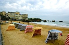 Beach cabana in Biarritz, France  |  by Fabrice RINGARD