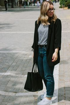 Casual look with the classic black blazer #blazer #casuallook #ootd #streetfashion