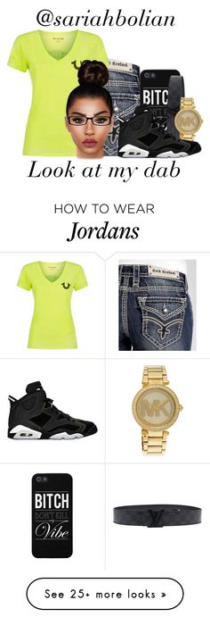 """Look at my dab.."" by sariahbolian on Polyvore featuring Rock Revival, Michael Kors, True Religion, Retrò, Chico's, women's clothing, women's fashion, women, female and woman"