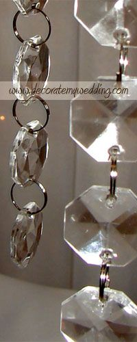 DECORATE MY WEDDING Acrylic Link Beads - Crystal Beads, Strands,  Pendants, and Garlands.