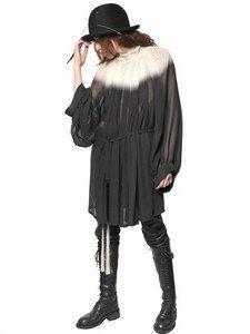 Ann Demeulemeester - Gradient Silk Georgette Dress   FashionJug.com