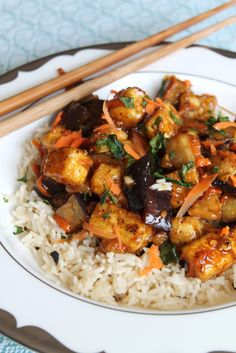 Eggplant Tofu in Garlic Sauce (Source: Adapted slightly from Secret Restaurant Recipes From the World's Top Kosher Restaurants)