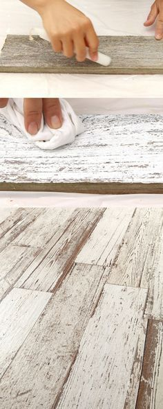 How to Whitewash Wood in 3 Simple Ways! Ultimate guide + video tutorials on how to whitewash wood & create beautiful whitewashed floors, walls and furniture using pine, pallet or reclaimed wood. Pallet Projects, Furniture Projects, Pallet Ideas, Diy Furniture, Furniture Design, Furniture Stores, Country Furniture, Furniture Plans, Antique Furniture