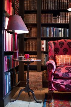 library | India Hicks country home | domino