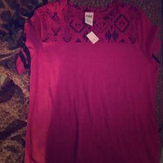 Victoria secret tribal shirt Victoria secret size medium pink and black shirt Victoria's Secret Tops Tees - Short Sleeve