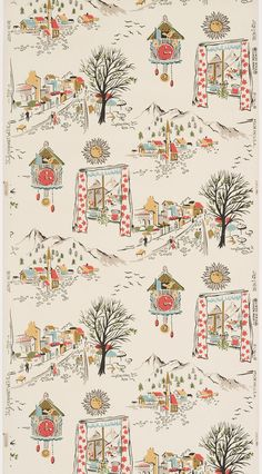 Vintage wallpaper found by Suzanne Lipschutz. Via Messy Nessy Chic. Textile Patterns, Print Patterns, Textiles, Vintage Walls, Vintage Paper, Red And White Curtains, Wallpaper Backgrounds, Iphone Wallpaper, Pattern Wallpaper