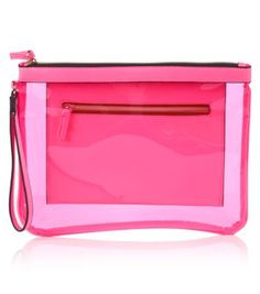 Pink Transparent Clutch