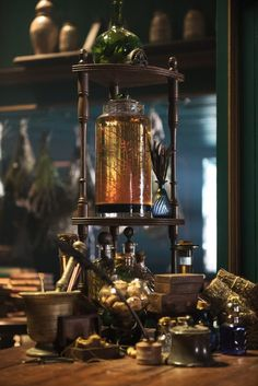 Wider shot of the Paris Peek apothecary items.  Master Raymond's perhaps?