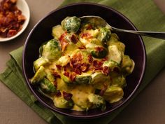 CHEESY BRUSSELS SPROUTS WITH BACON http://www.bettycrocker.com/recipes/cheesy-brussels-sprouts-with-bacon/90474038-9517-4b07-8fad-53800399dcf6