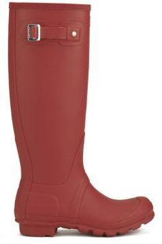 Hunter Women's Original Tall Wellies - Military Red - UK 7 https://modasto.com/hunter/kadin-ayakkabi/br1175ct13 #modasto #giyim