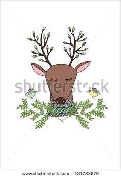 Oh deer illustration