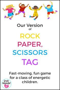 Rock, Paper, Scissors Tag Game: It's a Winner! » Grade Onederful