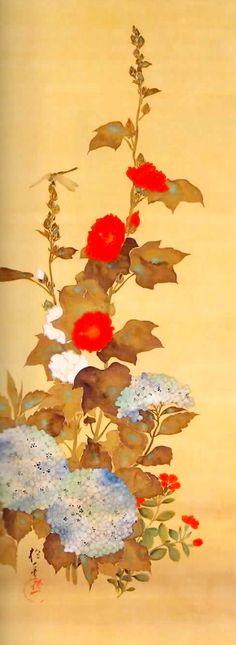 牡丹に蝶図,酒井抱一,19th century,Japan