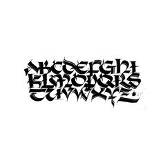 Brush Uncial #calligraphy #lettering #art #uncial #typographyinspired #typedaily #dailytype #type #textura #typography #script #dailytype #typedaily #design #typographyinspired #letters #goodtype #typegang #drawing #handlettering #scriptlettering #typographyinspired #typedaily Graffiti Alphabet Fonts, Tattoo Fonts Alphabet, Graffiti Lettering Fonts, Chicano Lettering, Tattoo Lettering Fonts, Font Art, Creative Lettering, Lettering Styles, Lettering Design