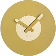 "The NeXtime ""In Touch"" wall clock is designed by Jette Scheib. The clock face and the hands exist of shiny and matt elements in gold. Clock Art, Diy Clock, Clock Ideas, Wall Clock Decor, Unusual Clocks, Black Spades, London Clock, Pendulum Clock, Wall Clock Online"