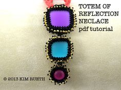 Beading Tutorial for Totem Of Reflection Necklace by KnotJustBeads, $10.00