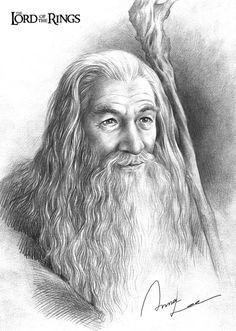Awwww... a happy Gandalf! (Gandalf by ilxwing.deviantart.com on @deviantART)