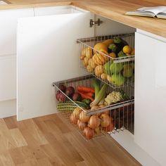 Chrome deep vegetable basket