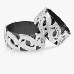 Özel Tasarımlı Eşsiz Elişi Gümüş Alyans - Gümüş ve Siyah Rodyum