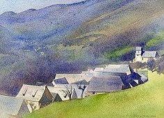 aquarelles Philippe Lhez, aquarelliste, pyrénéenne, architecture, patrimoine, rural, granges, paysages, paysans
