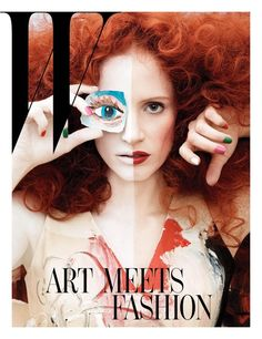 Jessica Chastain W magazine, January 2013