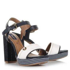 Wrangler Sunset Alicia Πέδιλα Λευκό - Μπλε - shoes4me