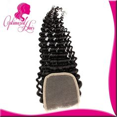 Wholesale Lace Closures! Virgin Brazilian curly Closure 4x4 bleached knots lace top closure US $20.13