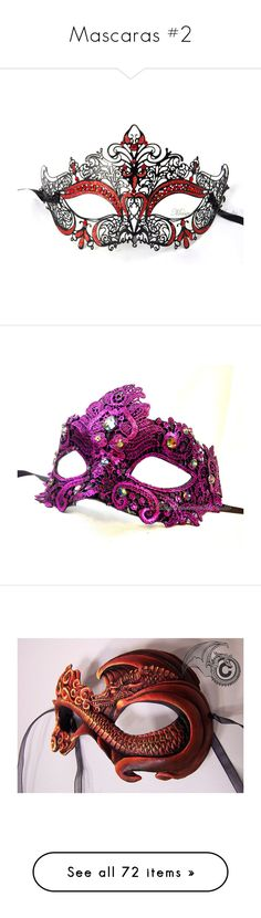 """Mascaras #2"" by ohannamc ❤ liked on Polyvore featuring costumes, masks, accessories, masquerade, other, mardi gras costumes, party halloween costumes, carnival costumes, black and white halloween costume and sexy carnival costumes"