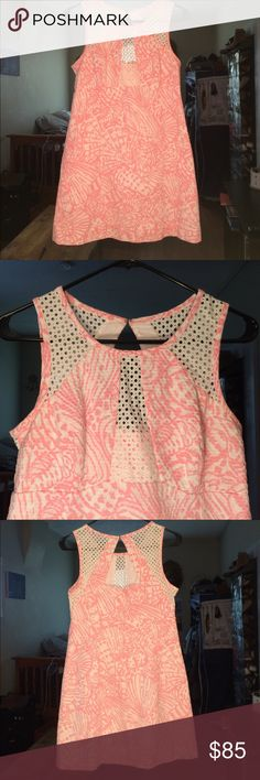 LILLY PULITZER DRESS!!! Pink and white with a cute cut out on the back!! Size 6 in great condition!!! Lilly Pulitzer Dresses Mini