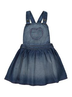 Denim Pinafore Dress, read reviews and buy online at George. Shop from our latest range in Kids. Your little girl will love working the denim trend in this a...