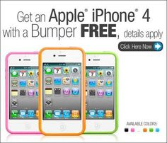 Get a free Apple iPhone 4 with Bumper Case!^_^
