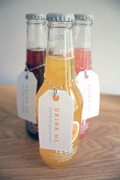 """Drink Me"" Bottle Tags"