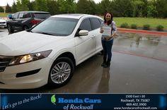 https://flic.kr/p/G5R2vj | Congratulations Audrey on your #Honda #Crosstour from Brad Trimble at Honda Cars of Rockwall! | deliverymaxx.com/DealerReviews.aspx?DealerCode=VSDF