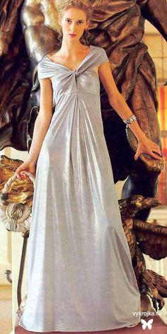 Patrón de un vestido de noche en el estilo Imperio