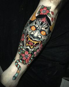Tattoo artist Johnny Domus Mesquita colorfull neo traditional tattoo | Viseu, Portugal