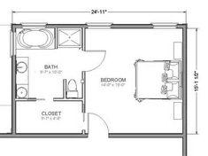 master bedroom floor plans with measurements - Google Search