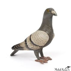 - Cast iron pigeon is the perfect city pet. - Put them to work; make them hold your door. - Dimensions: Life size.