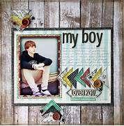 Boy. Layout by kellyshults | Scrapbook Layouts | Pinterest | My boys ...