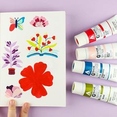 Brainstorming and experimenting with concepts and color combinations. Art Supplies, Watercolors, Color Combinations, Concept, Pure Products, Traditional, Illustration, Red, Pink